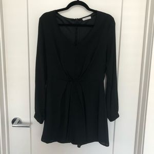 LUSH Black Long Sleeved Romper